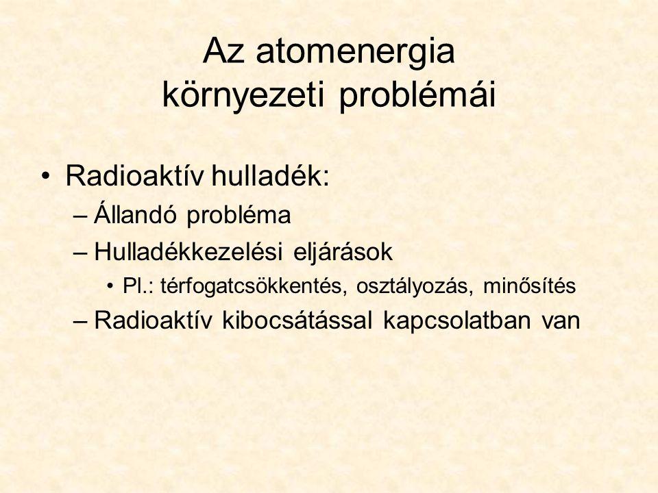 Az atomenergia környezeti problémái