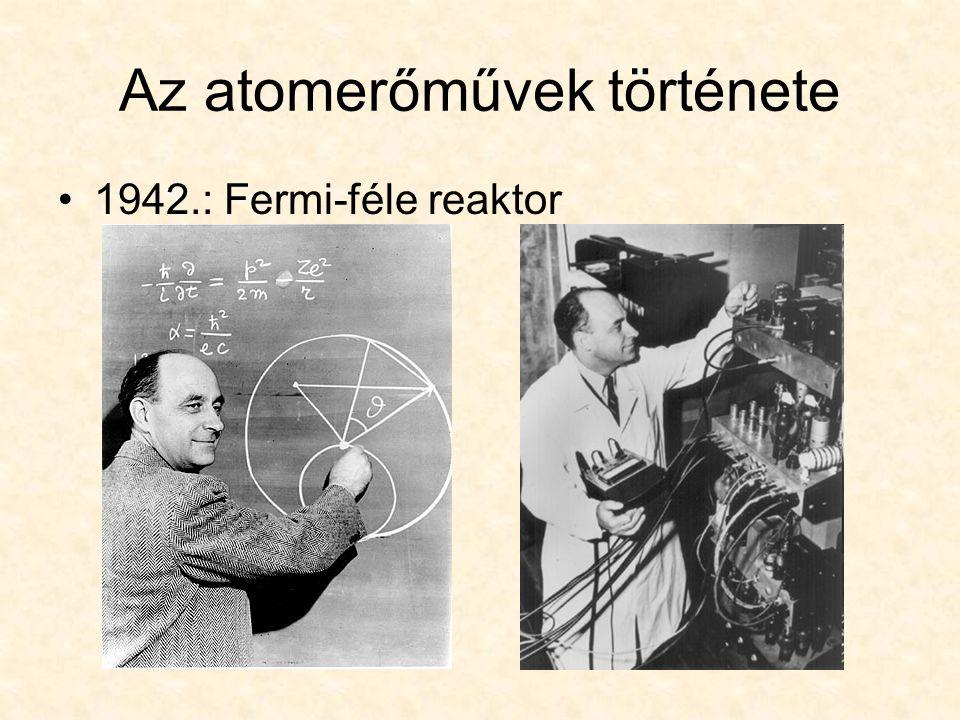 Az atomerőművek története