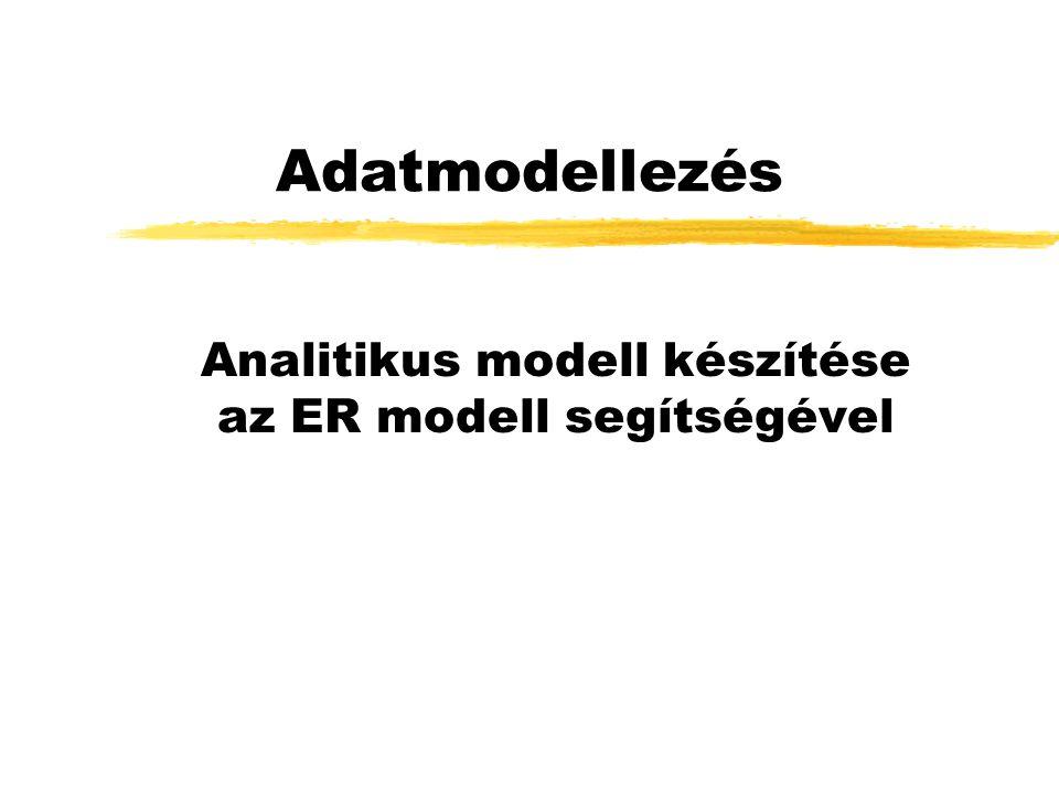 Analitikus modell készítése az ER modell segítségével