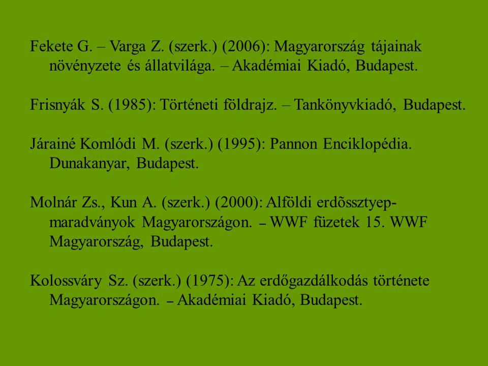 Fekete G. – Varga Z. (szerk
