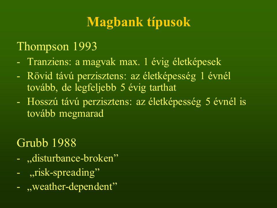 Magbank típusok Thompson 1993 Grubb 1988