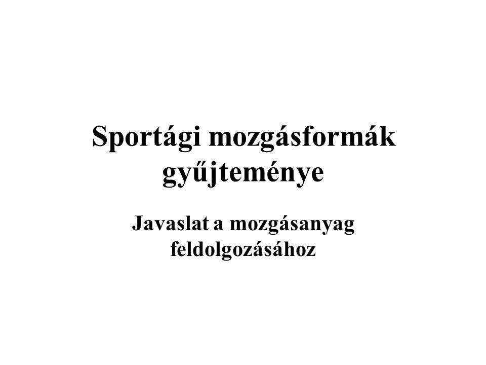 Sportági mozgásformák gyűjteménye