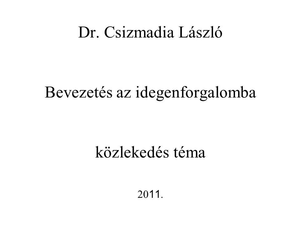 Dr. Csizmadia László Bevezetés az idegenforgalomba közlekedés téma 2011.