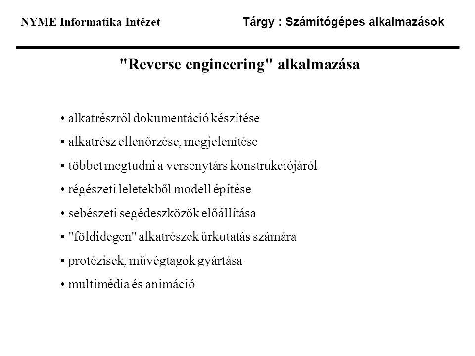 Reverse engineering alkalmazása