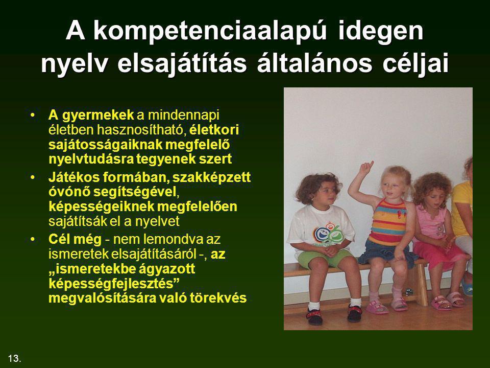A kompetenciaalapú idegen nyelv elsajátítás általános céljai