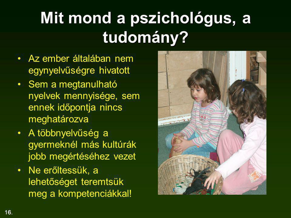 Mit mond a pszichológus, a tudomány