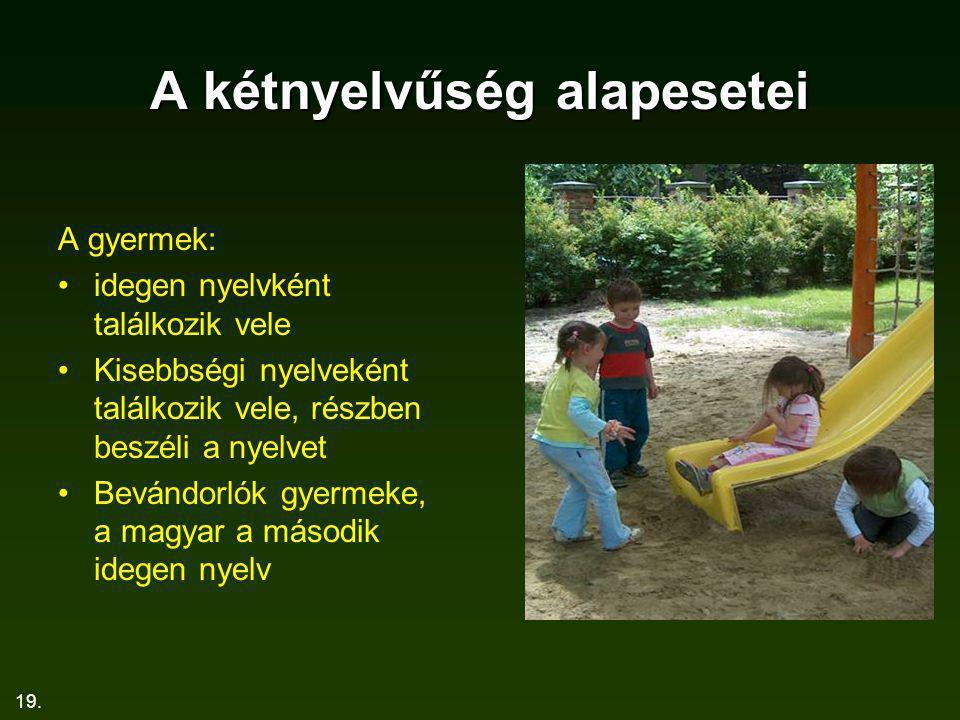 A kétnyelvűség alapesetei