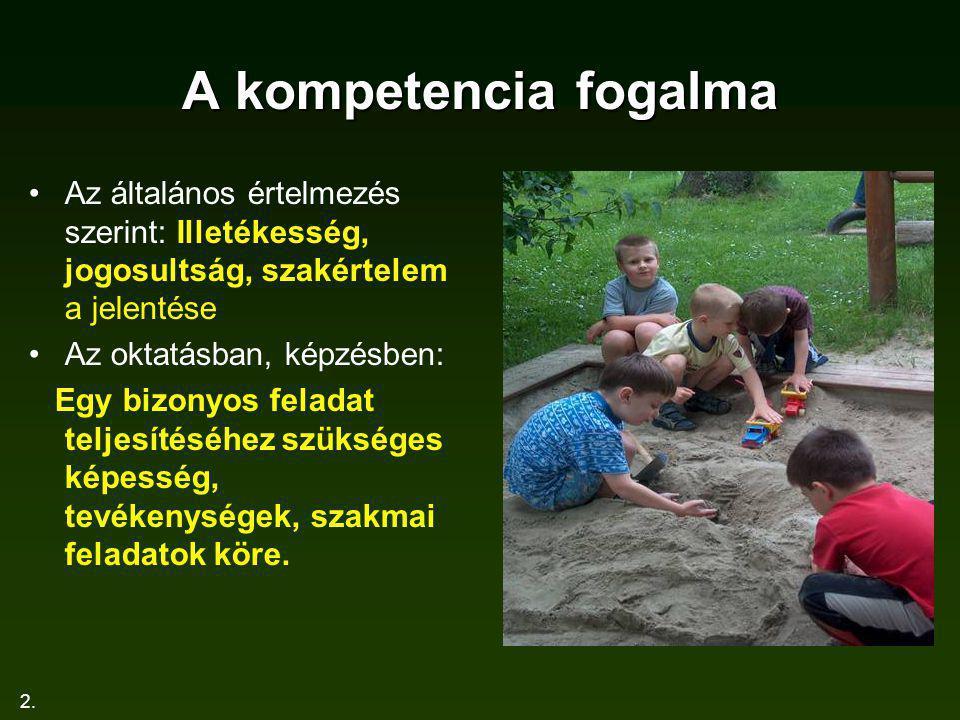 A kompetencia fogalma Az általános értelmezés szerint: Illetékesség, jogosultság, szakértelem a jelentése.