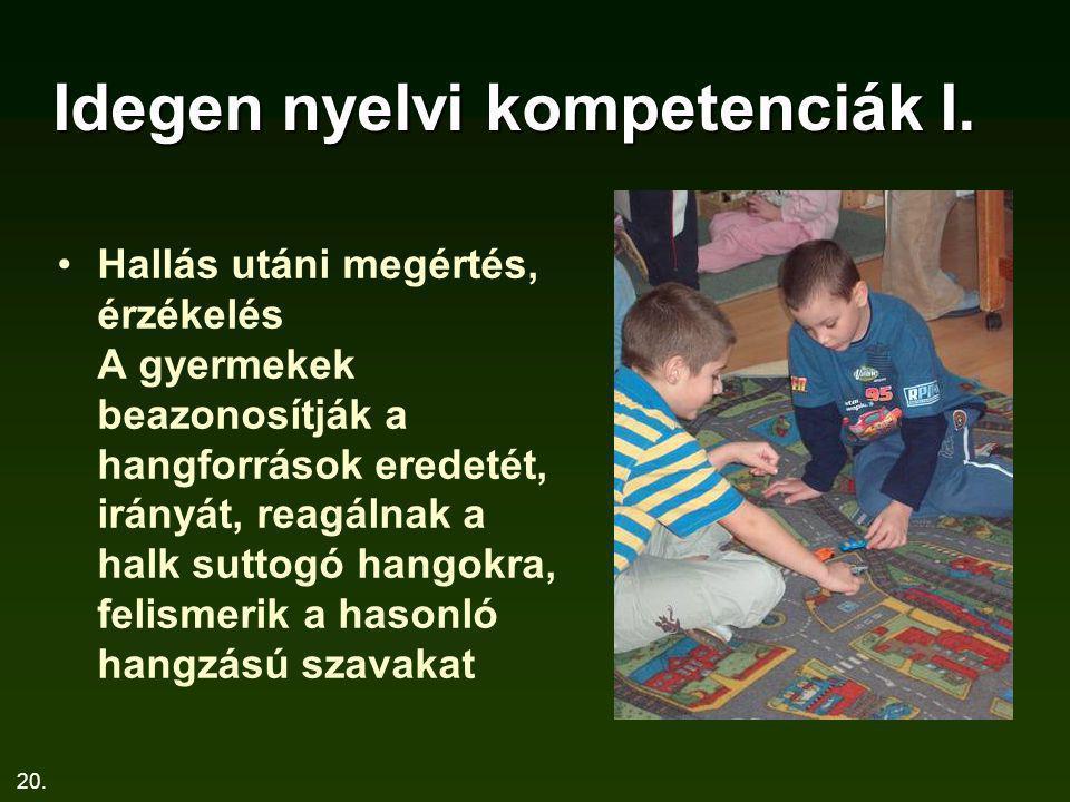 Idegen nyelvi kompetenciák I.