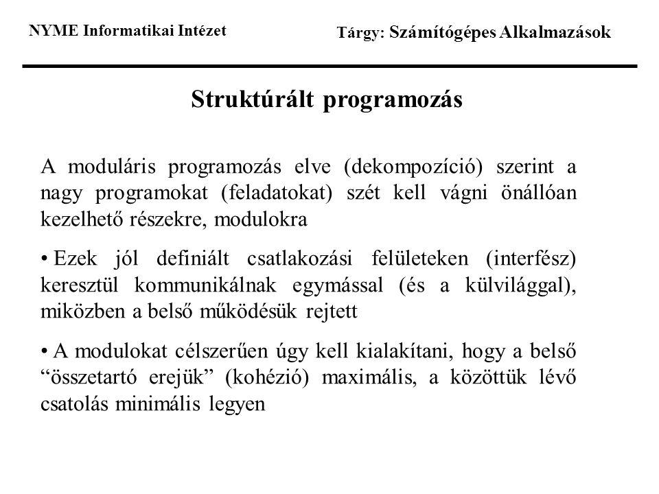 Struktúrált programozás