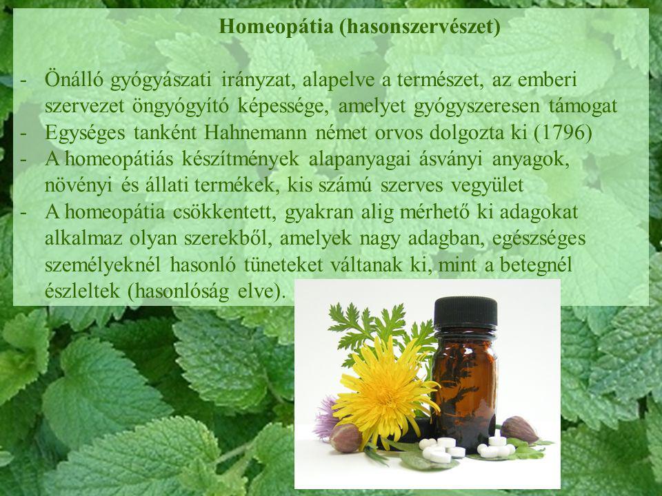 Homeopátia (hasonszervészet)