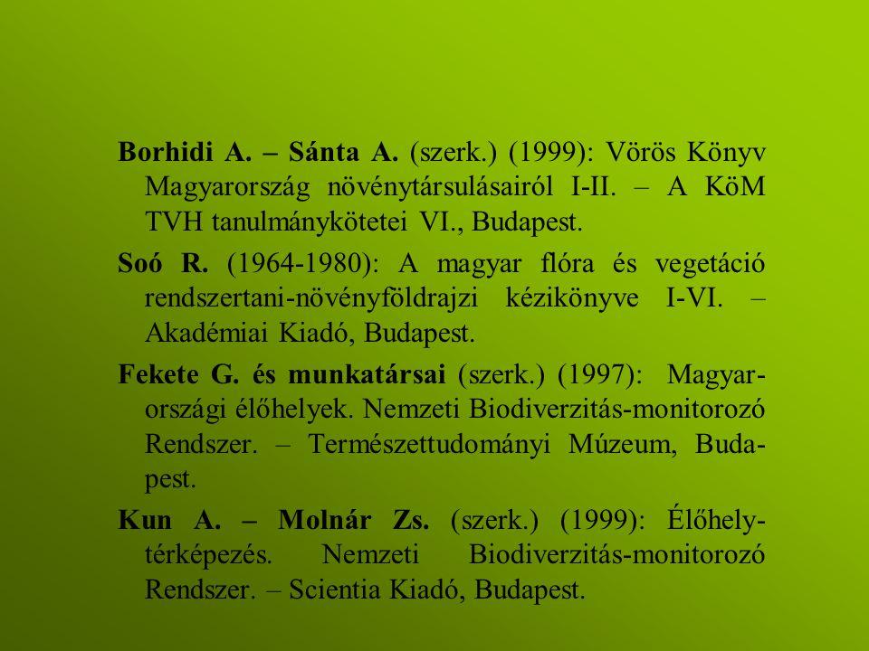 Borhidi A. – Sánta A. (szerk