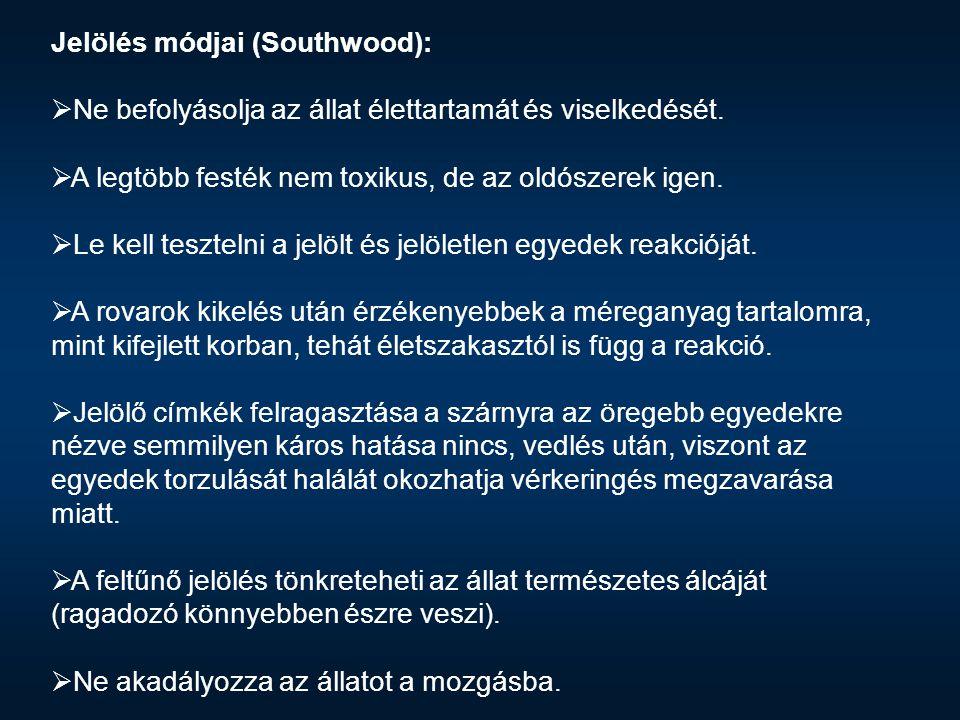 Jelölés módjai (Southwood):