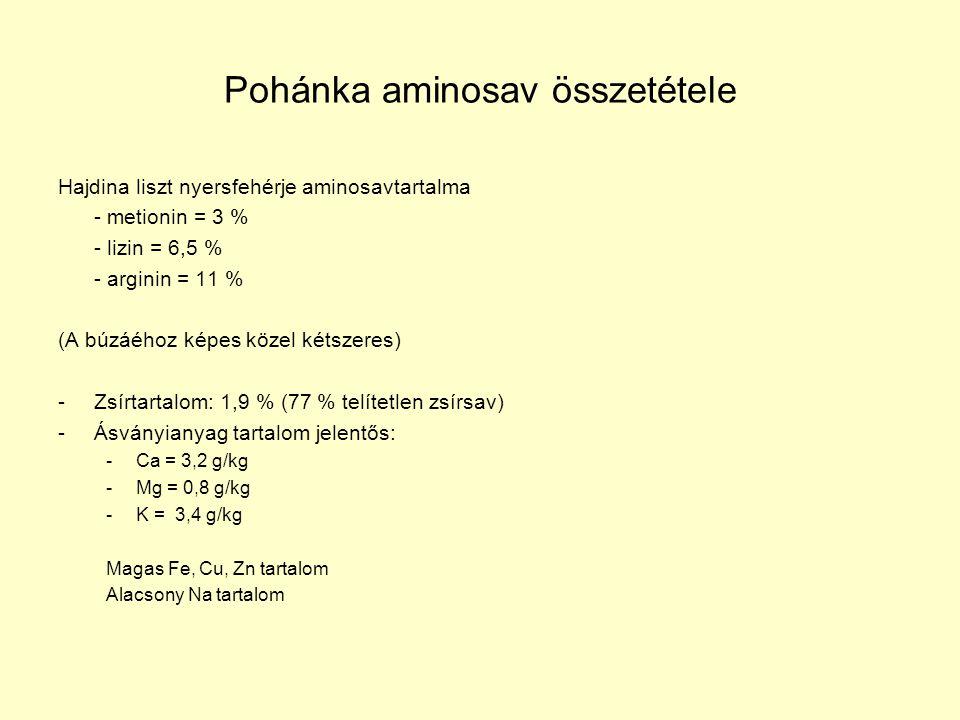 Pohánka aminosav összetétele
