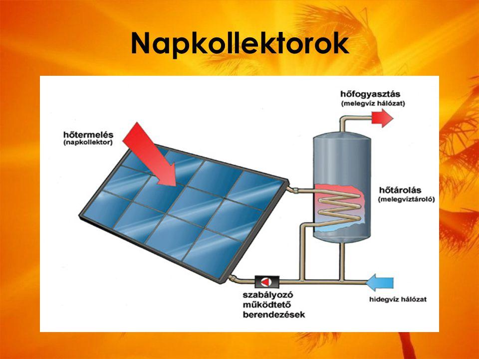Napkollektorok olyan berendezés, amely a napenergiából állít elő fűtésre, vízmelegítésre használható hőenergiát.