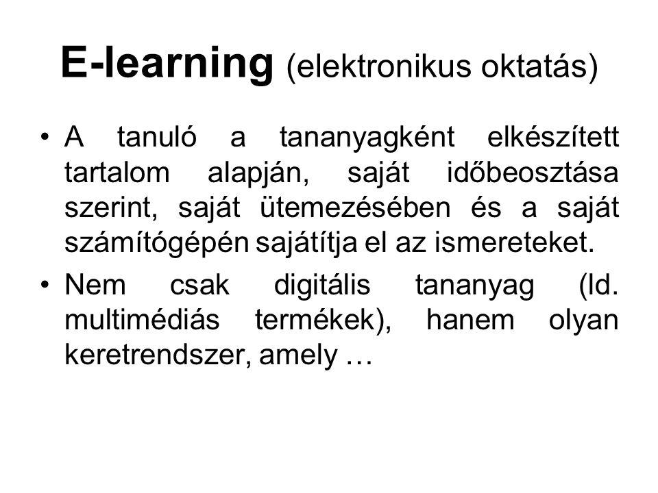 E-learning (elektronikus oktatás)