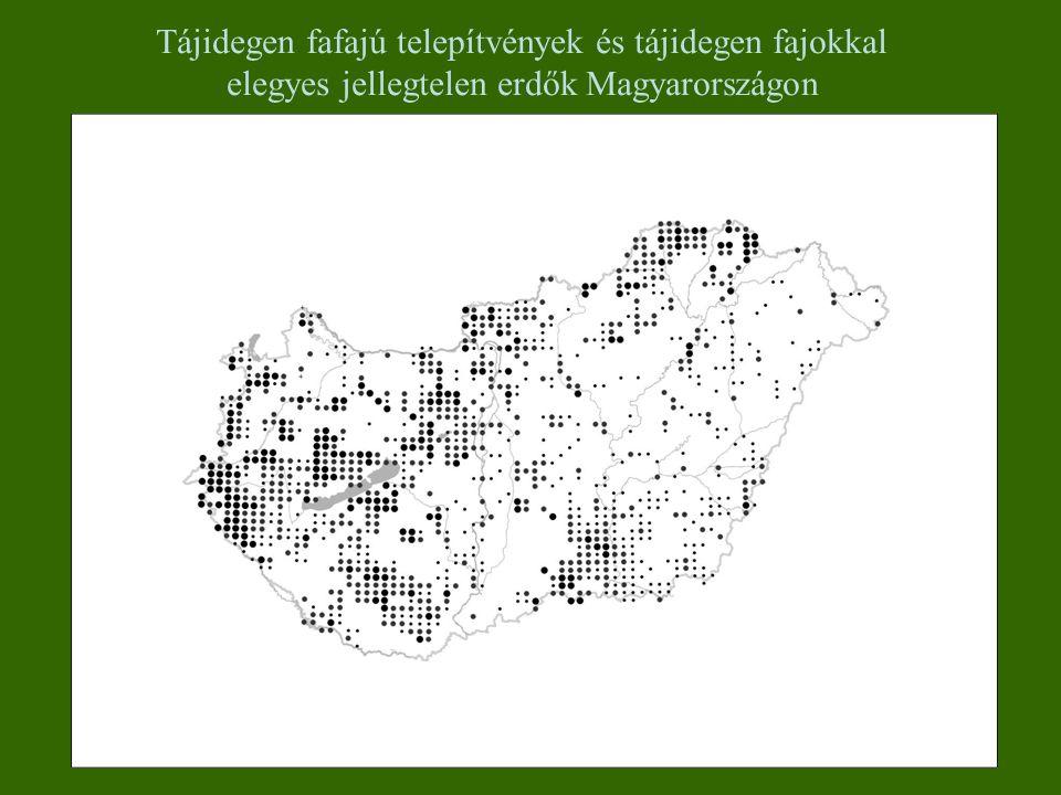 Tájidegen fafajú telepítvények és tájidegen fajokkal