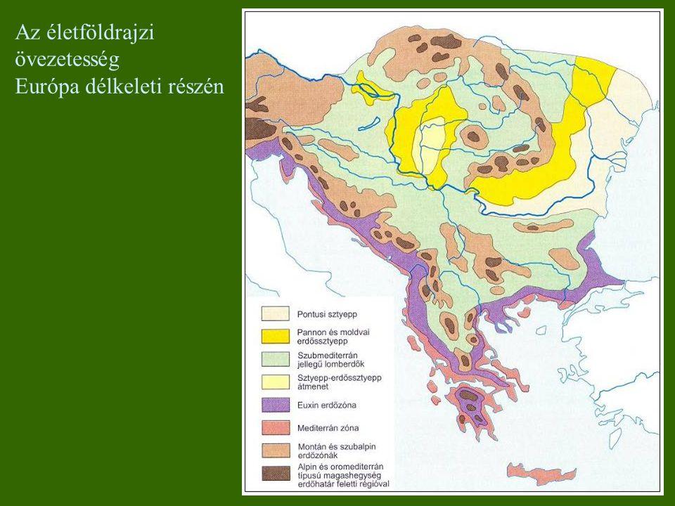 Az életföldrajzi övezetesség Európa délkeleti részén