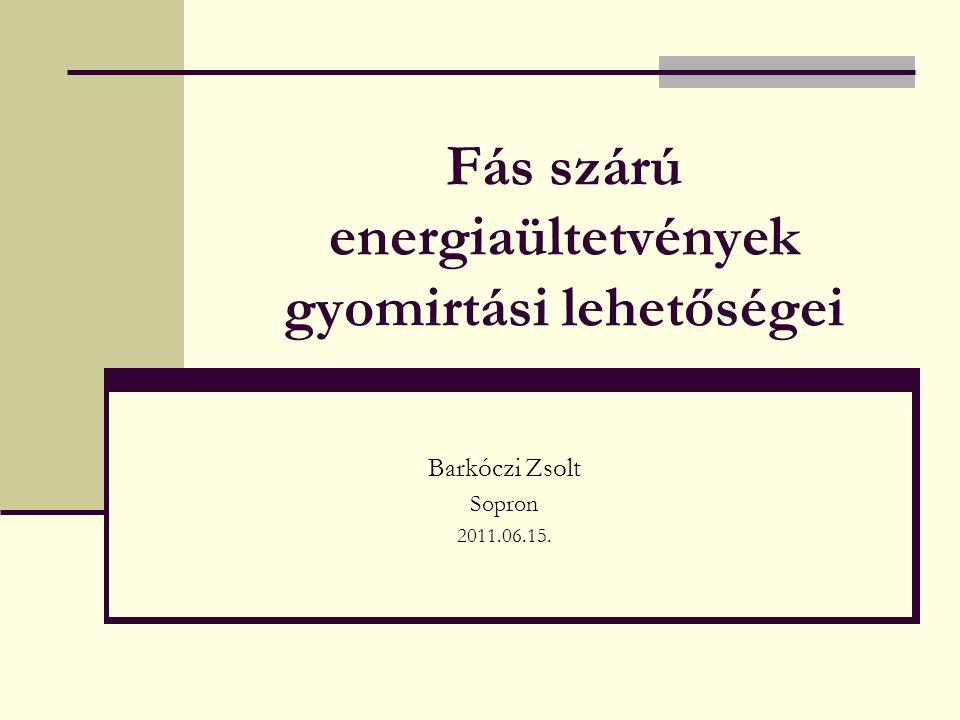 Fás szárú energiaültetvények gyomirtási lehetőségei