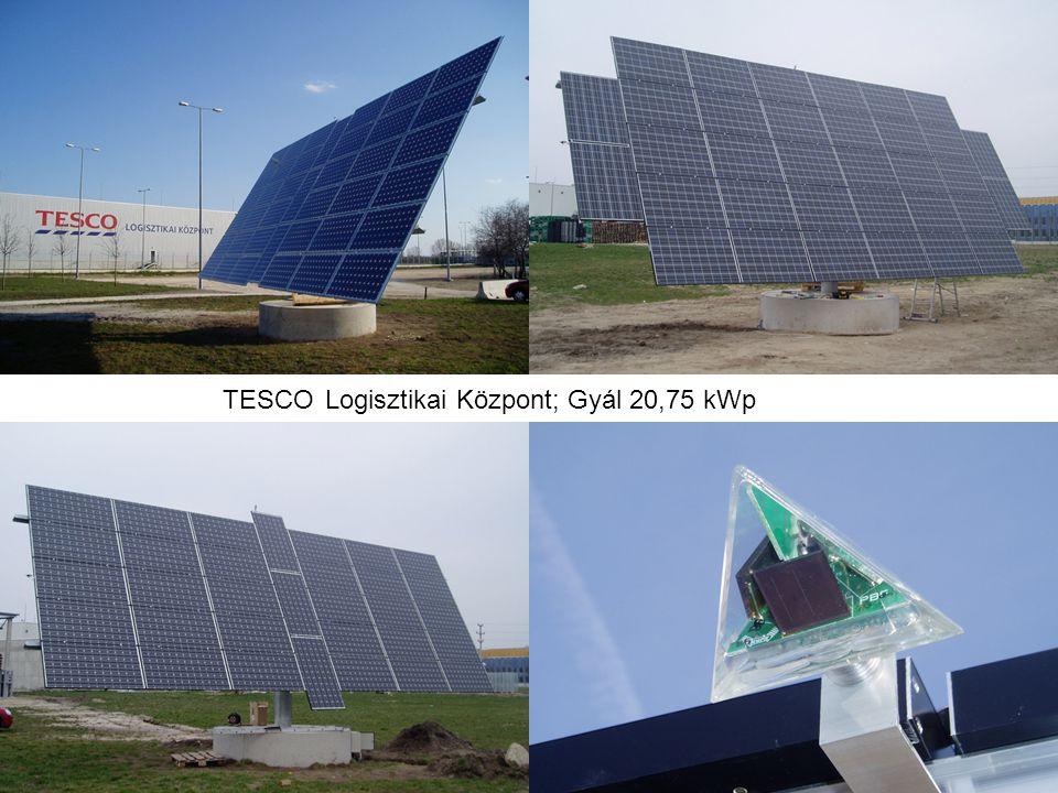 TESCO Logisztikai Központ; Gyál 20,75 kWp