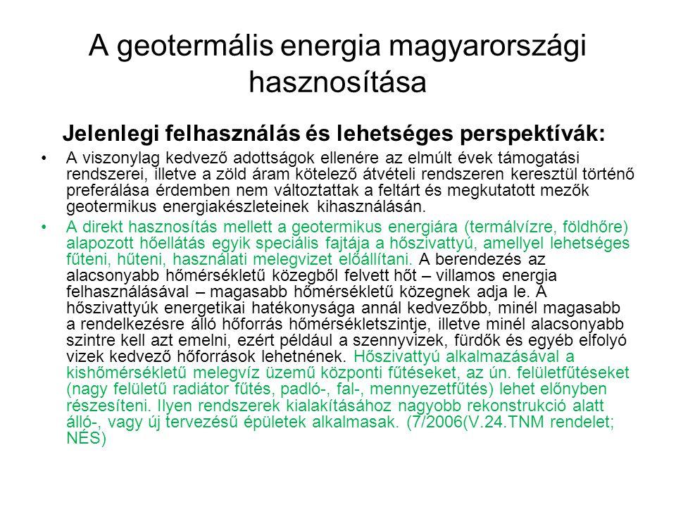 A geotermális energia magyarországi hasznosítása