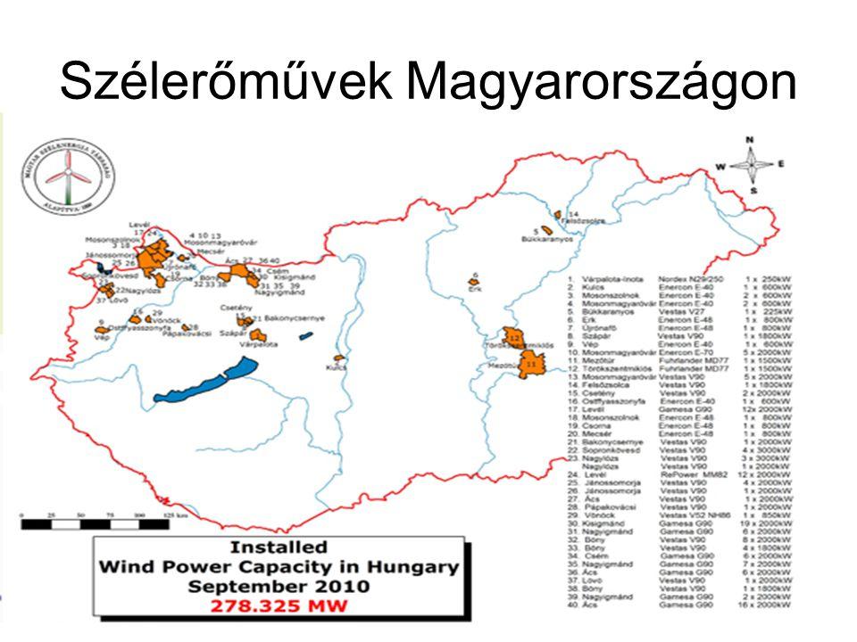 Szélerőművek Magyarországon