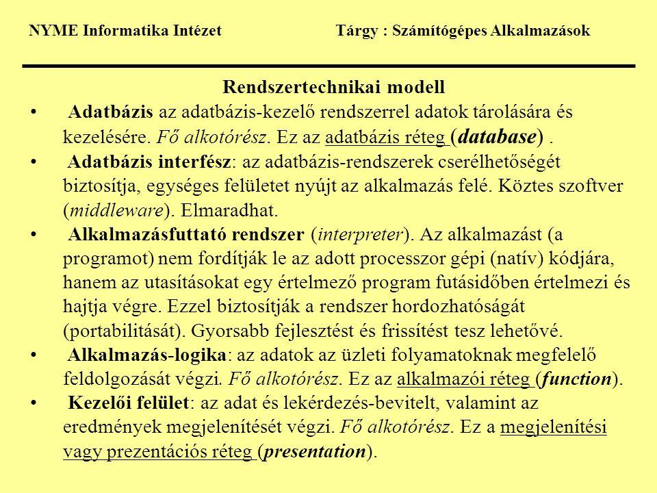 Rendszertechnikai modell