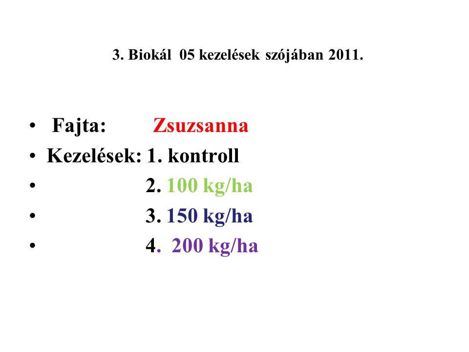 3. Biokál 05 kezelések szójában 2011.