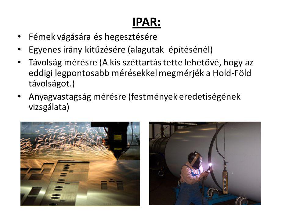 IPAR: Fémek vágására és hegesztésére