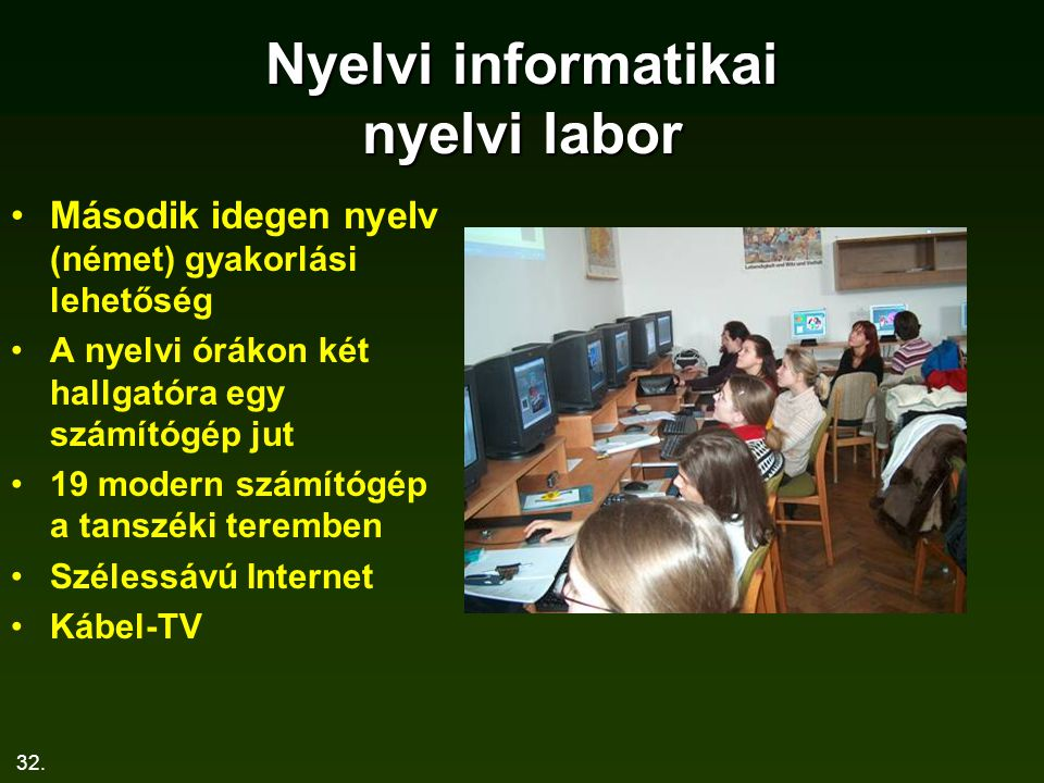 Nyelvi informatikai nyelvi labor
