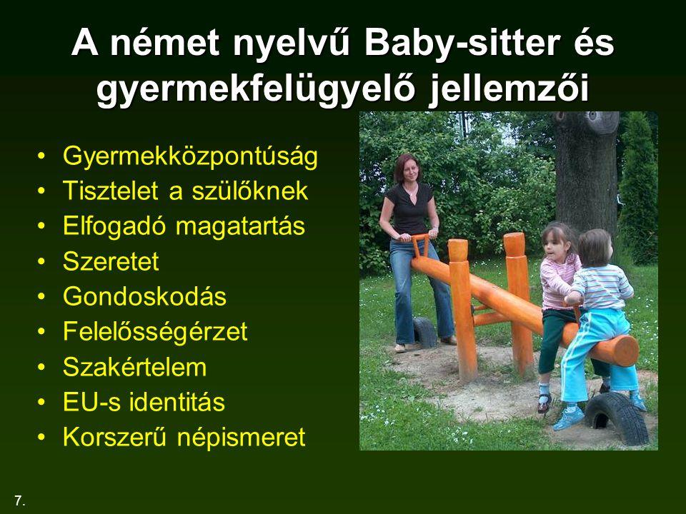 A német nyelvű Baby-sitter és gyermekfelügyelő jellemzői