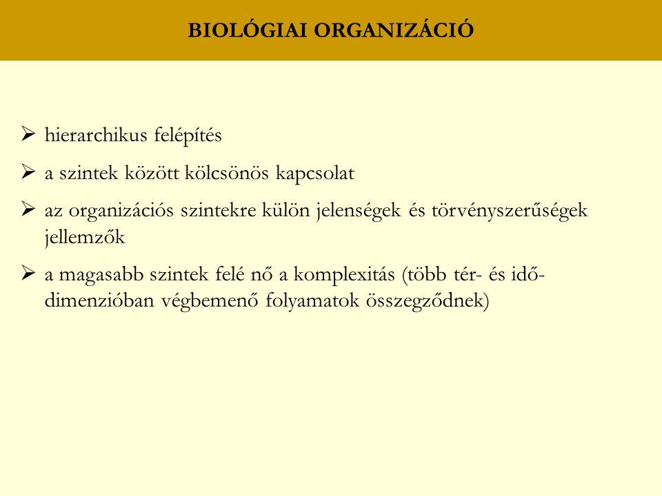 BIOLÓGIAI ORGANIZÁCIÓ