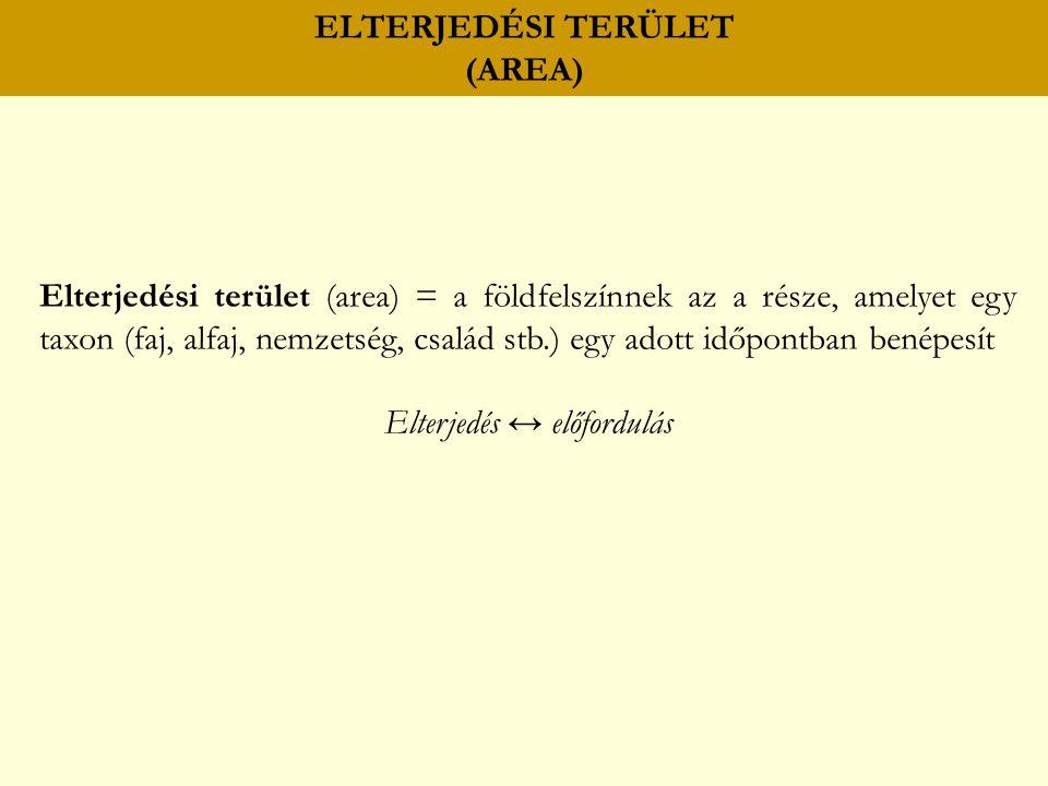 ELTERJEDÉSI TERÜLET (AREA)