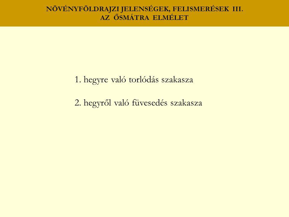 NÖVÉNYFÖLDRAJZI JELENSÉGEK, FELISMERÉSEK III. AZ ŐSMÁTRA ELMÉLET