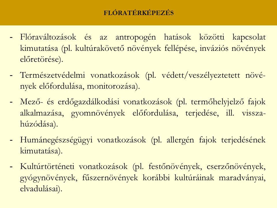 FLÓRATÉRKÉPEZÉS
