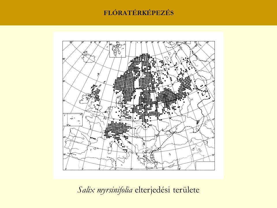 Salix myrsinifolia elterjedési területe