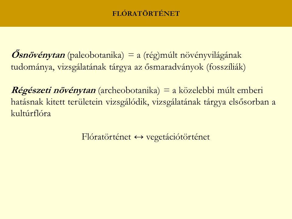 Flóratörténet ↔ vegetációtörténet