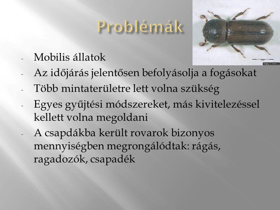 Problémák Mobilis állatok