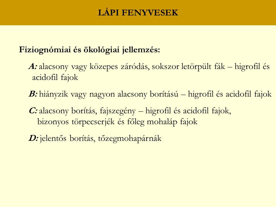 Fiziognómiai és ökológiai jellemzés:
