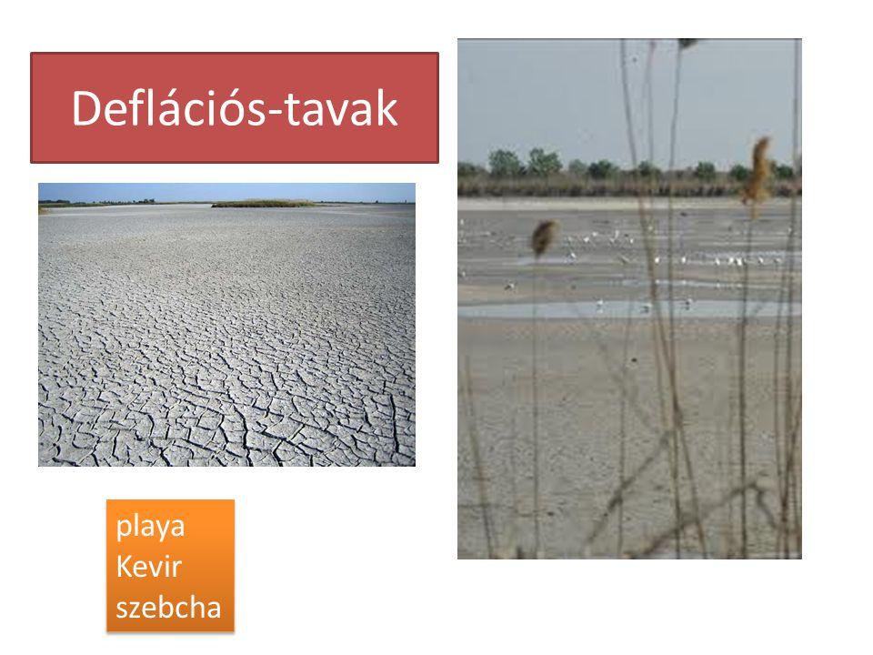 Deflációs-tavak playa Kevir szebcha