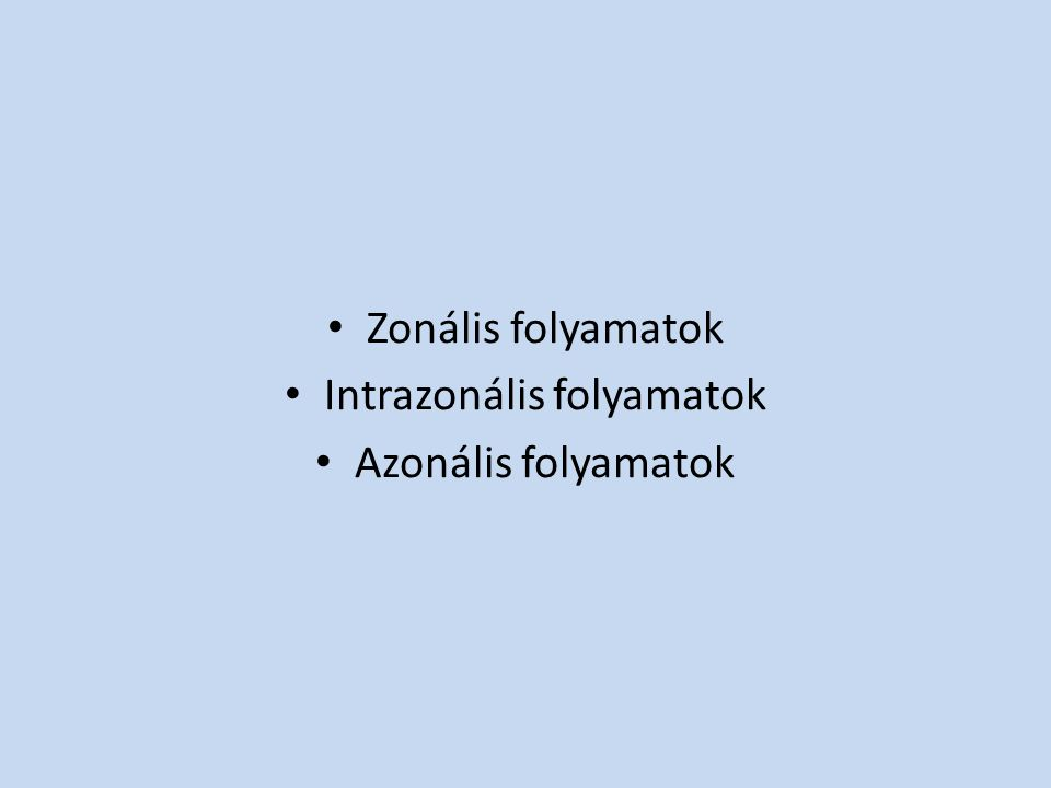 Intrazonális folyamatok