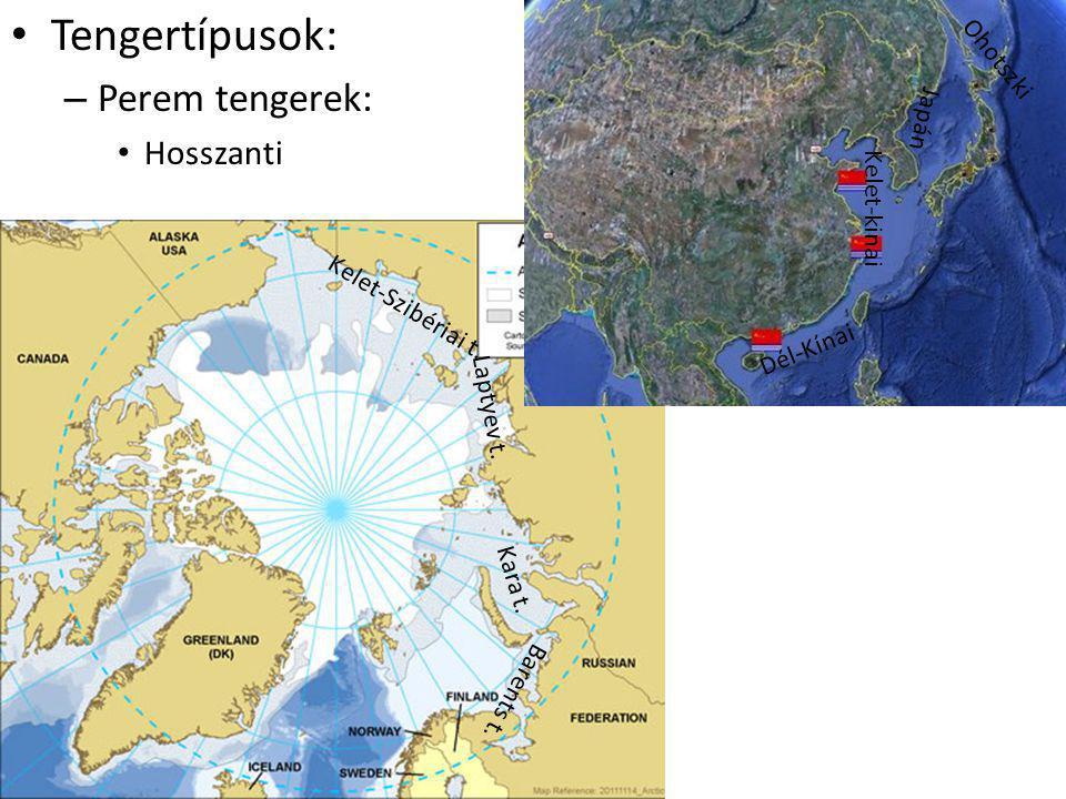 Tengertípusok: Perem tengerek: Hosszanti Ohotszki Japán Kelet-kinai