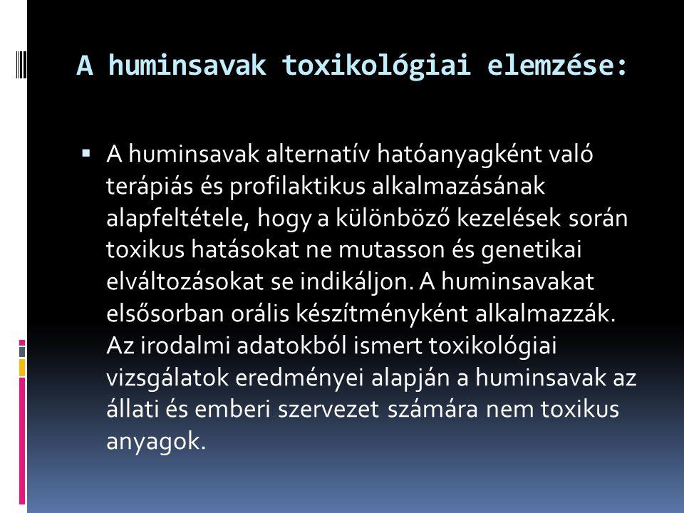 A huminsavak toxikológiai elemzése: