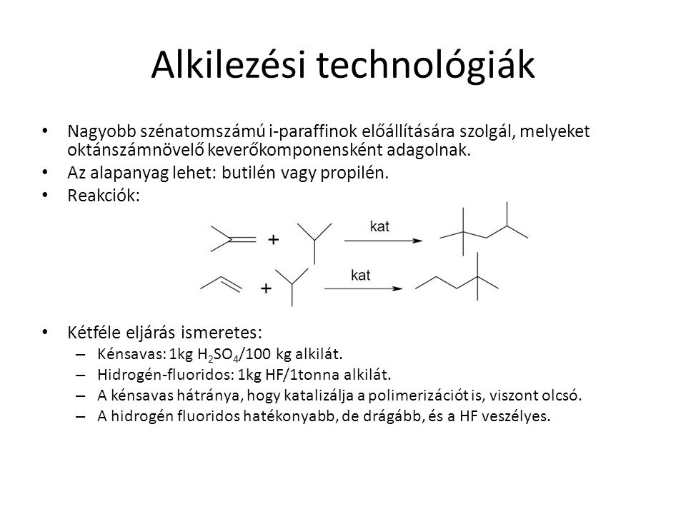 Alkilezési technológiák