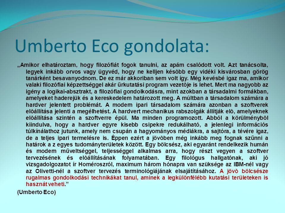 Umberto Eco gondolata: