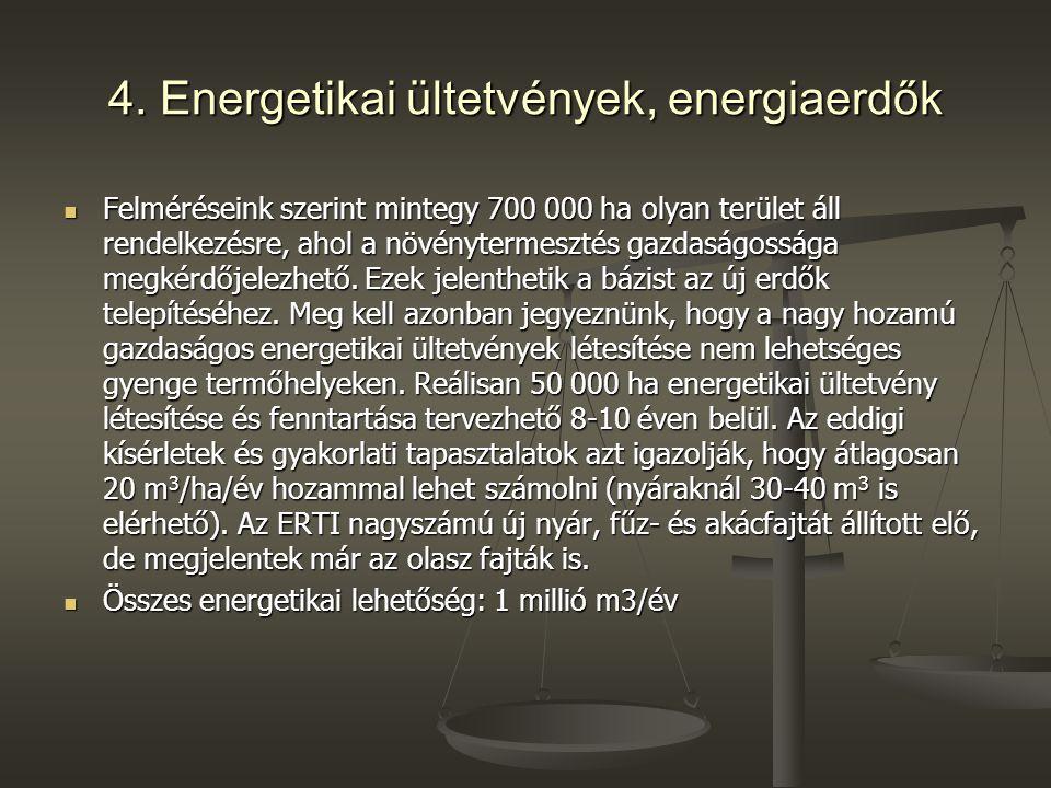 4. Energetikai ültetvények, energiaerdők