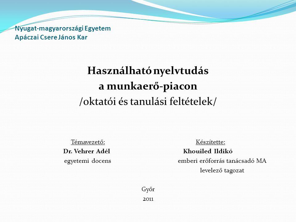 Nyugat-magyarországi Egyetem Apáczai Csere János Kar