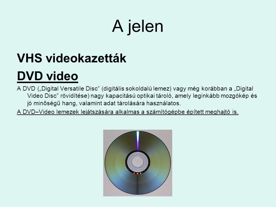 A jelen VHS videokazetták DVD video