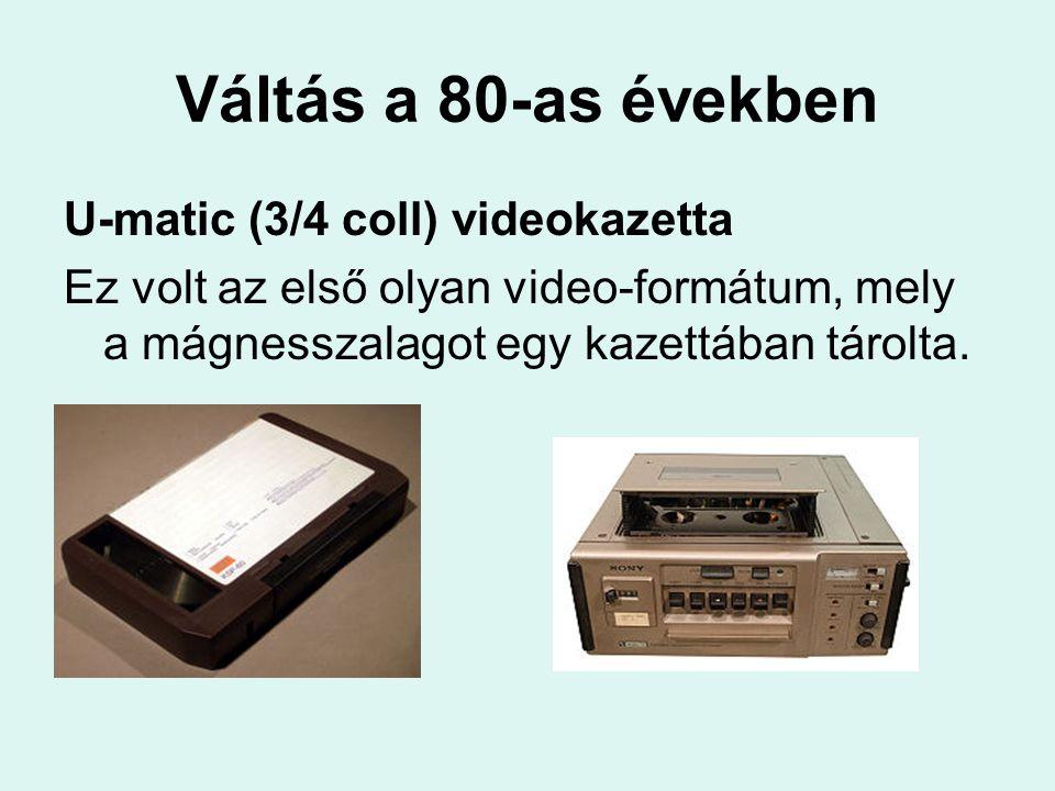 Váltás a 80-as években U-matic (3/4 coll) videokazetta