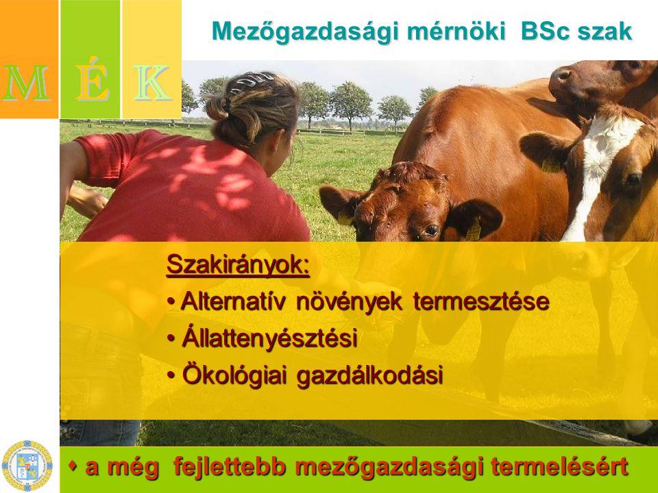 Mezőgazdasági mérnöki BSc szak